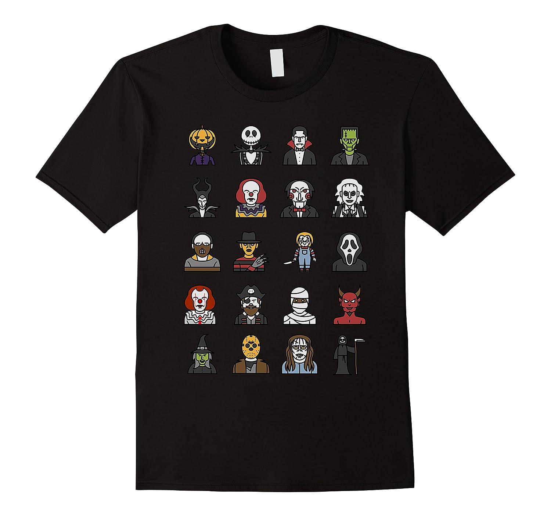 Friends Cartoon Halloween Character Scary Horror Movies Shirts Men Short Sleeve