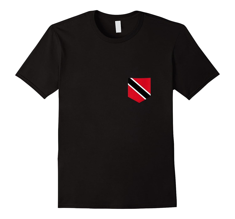 Trinidad And Tobago Flag Art With Printed Trinidadian Pocket Tank Top Shirts