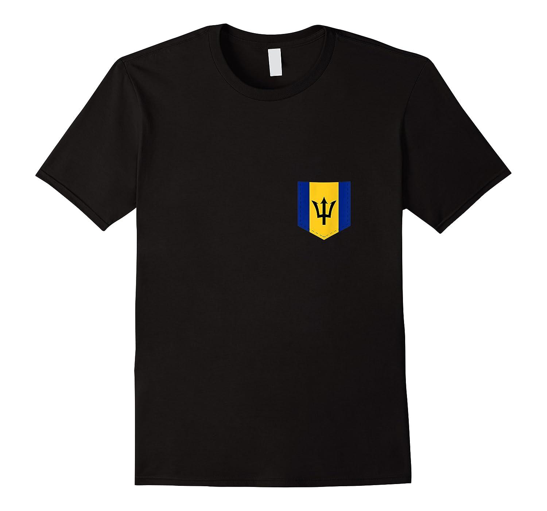 Barbados Flag Design With Printed Barbadian Flag Pocket Tank Top Shirts