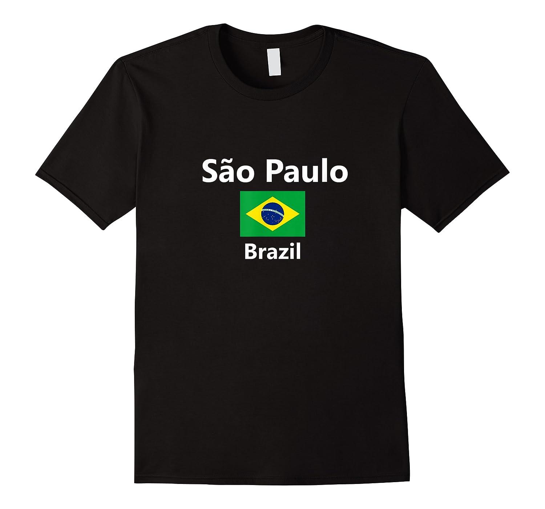 Sao Paulo Brazil Flag City Country Tourist Souvenir Shirts