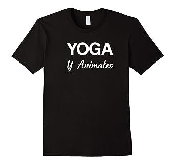 Yoga y animales polera o camisa para yoga adictos shirt