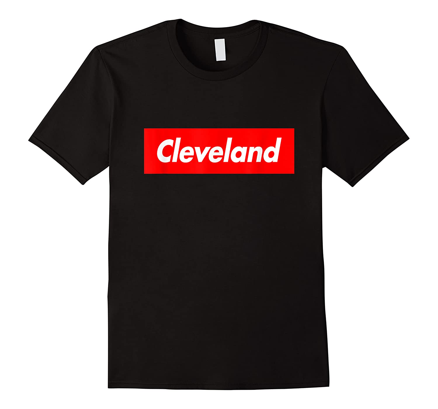 Cleveland Funny Red Box Logo Family First Last Name T-shirt