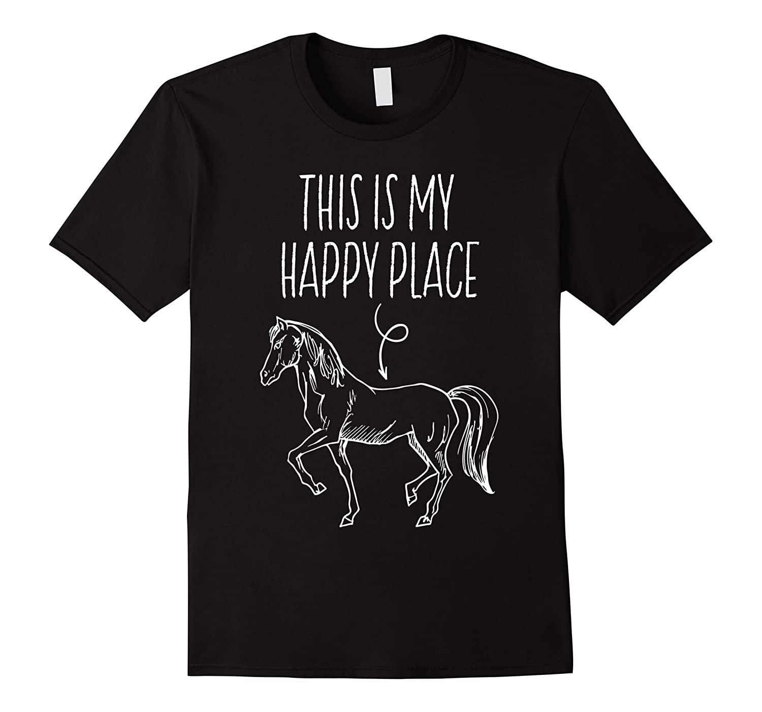 This Is My Happy Place Horse Lover T-shirt Horseback Riding