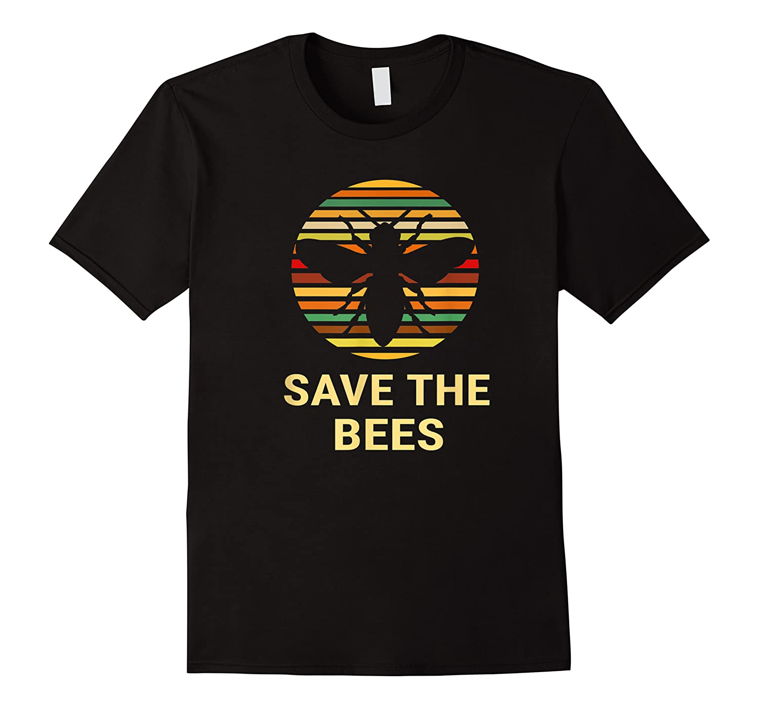 Save The Bees T Shirt Vintage Sunset Bees Gift Shirt
