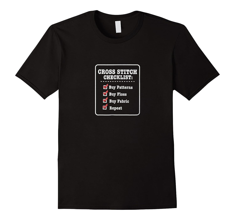 Cross Stitching T-shirt - Funny Checklist