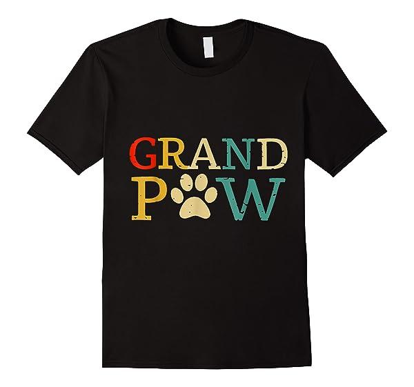 Grand Paw T Shirt Dog Lover Grandpaw Grandpa
