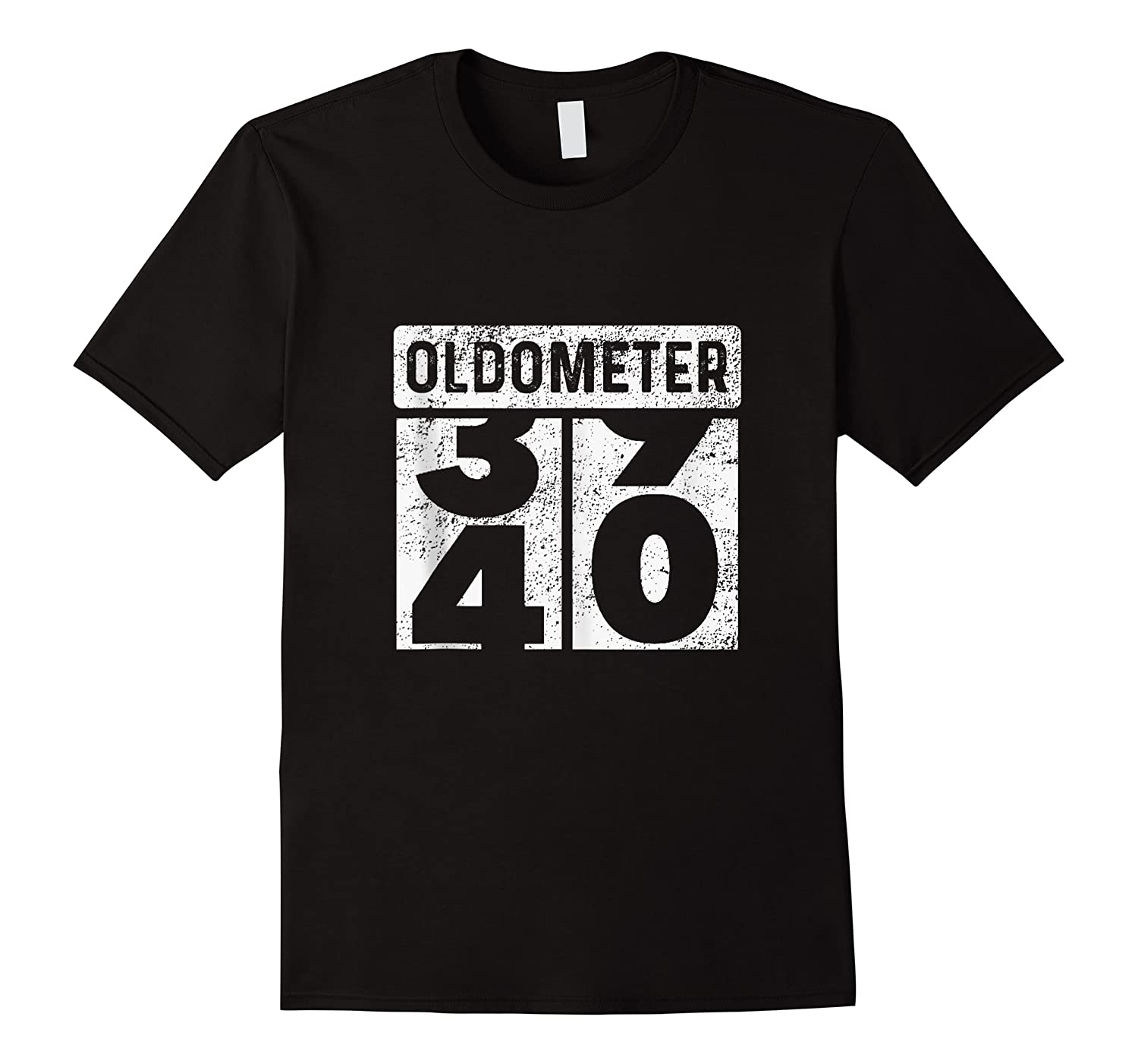 Oldometer Odometer Funny 40th Birthday Gift 40 Yrs Old Joke Shirts