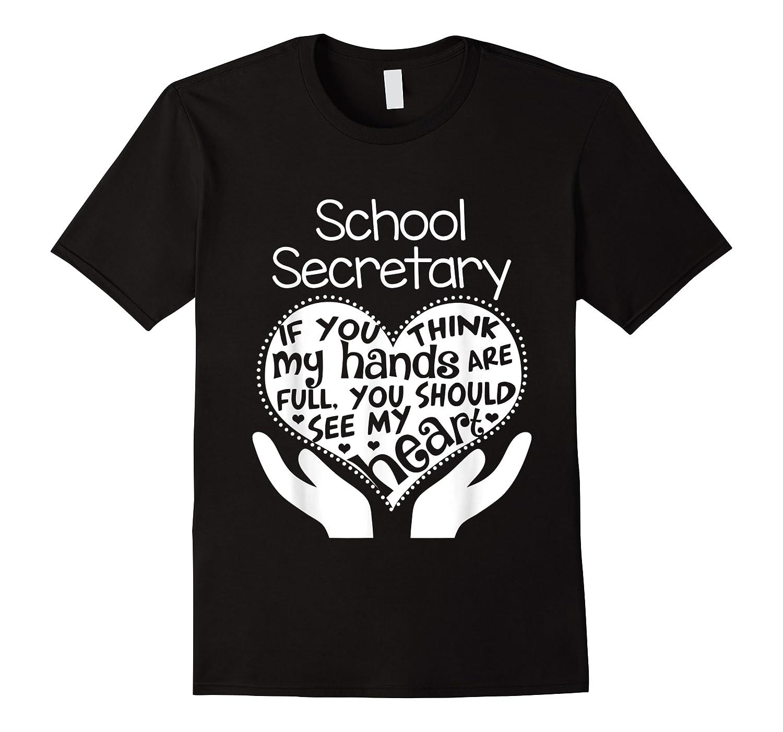 School Secretary Clerk Office Heart Group Gift Shirts