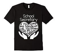 School Secretary Clerk Office Heart Group Gift Shirts Black