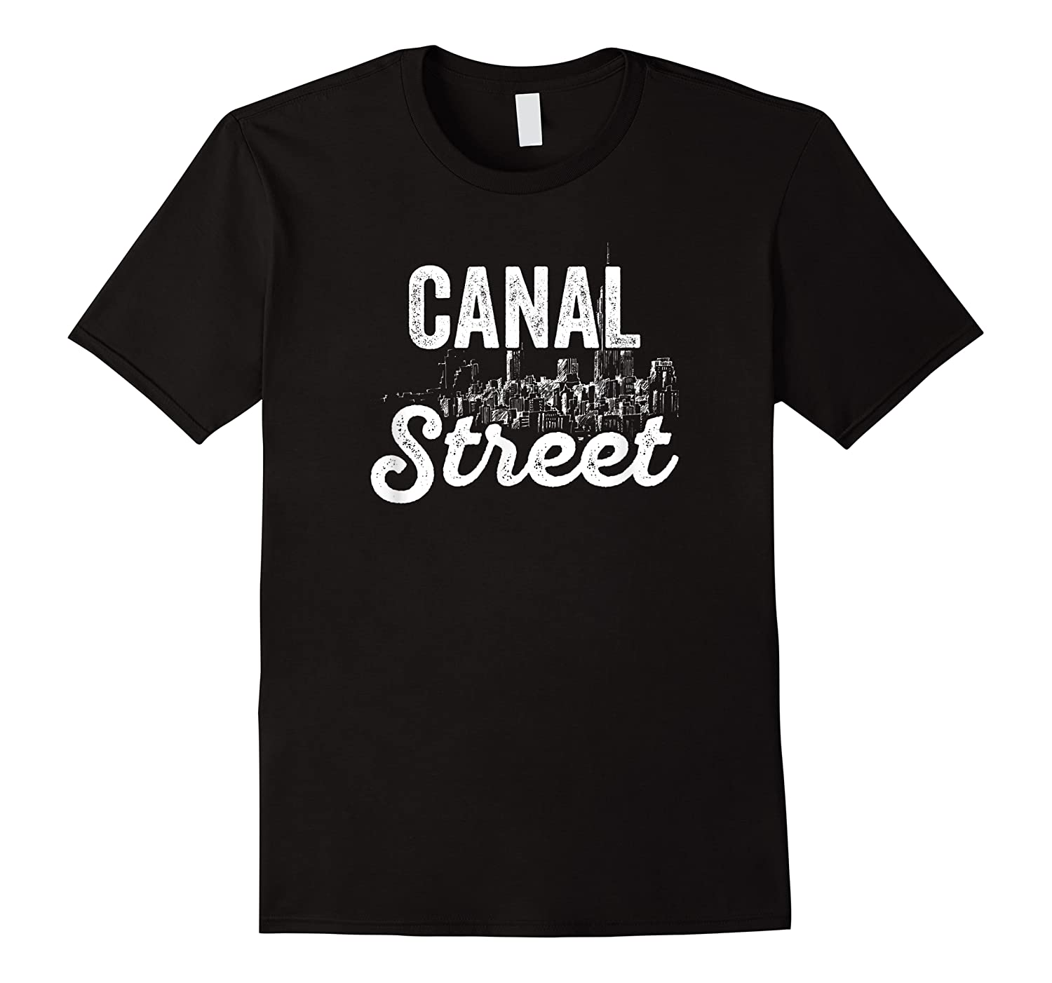 Canal Street Sign New York City Skyline Shirt For New Yorker