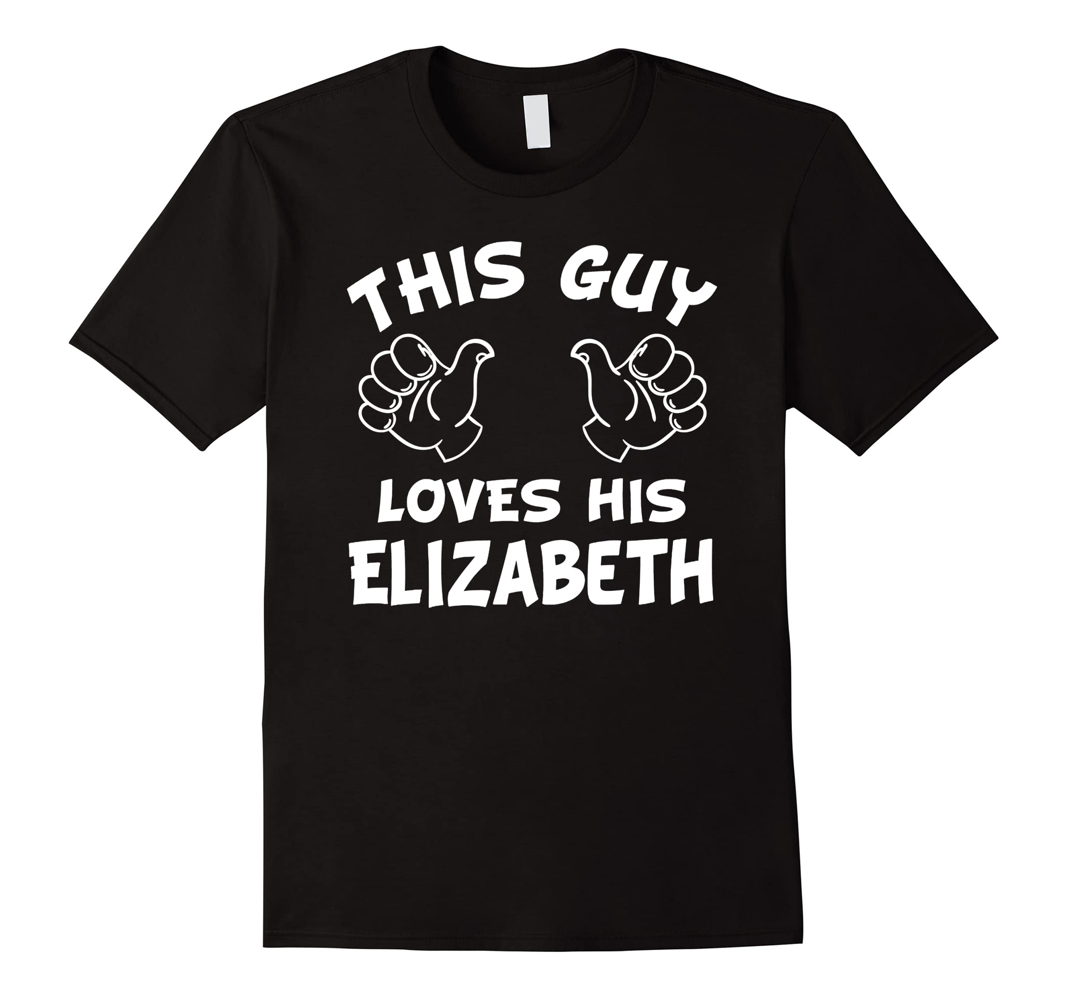 This guy loves his Elizabeth T-shirt-RT