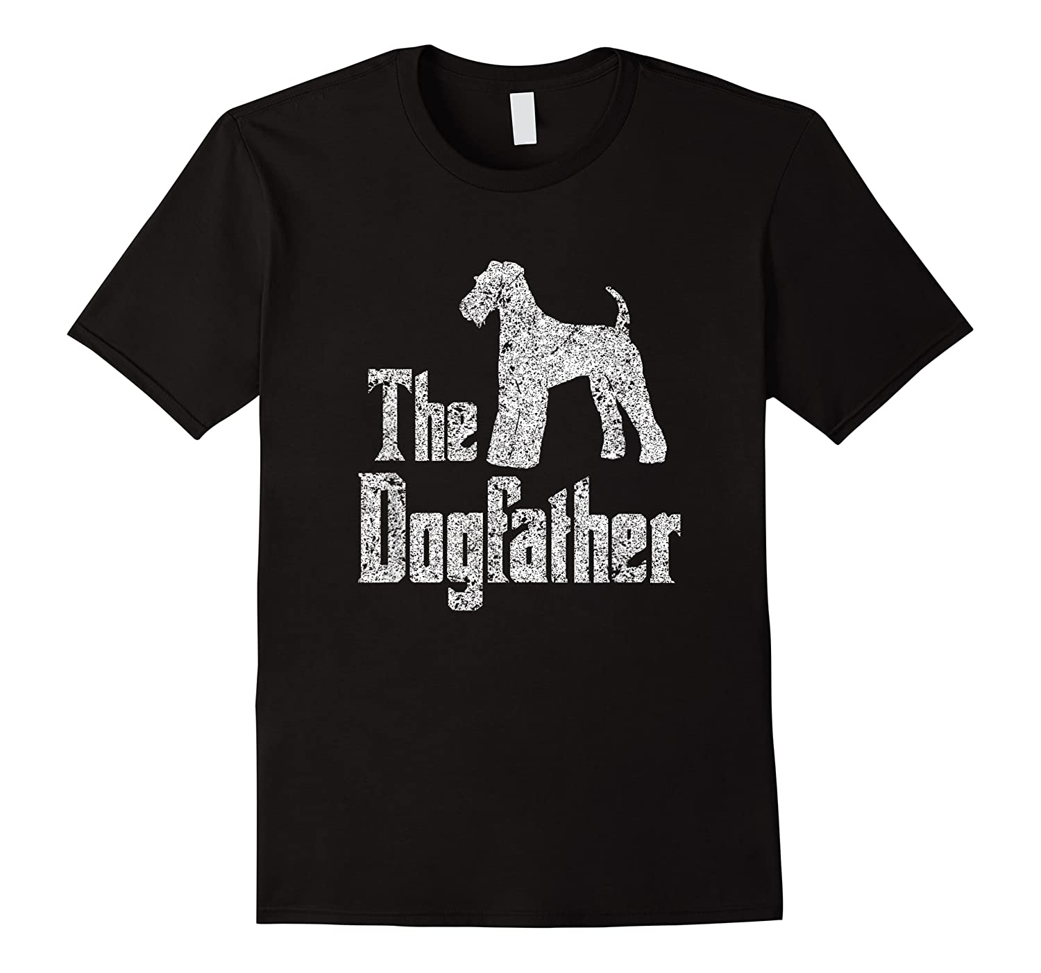 The Dogfather, Airedale Terrier Silhouette Funny Dog Shirts