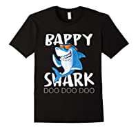 Bappy Shark, Fathers Day Gift From Wife Son Daughter Shirts Black