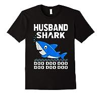 Husband Shark Doo Doo Shirt For Matching Family Pajamas Black