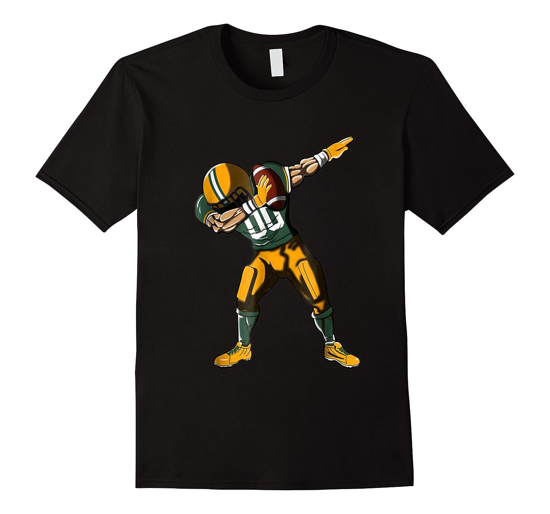 Football Dabbing T Shirt Funny Green Yellow