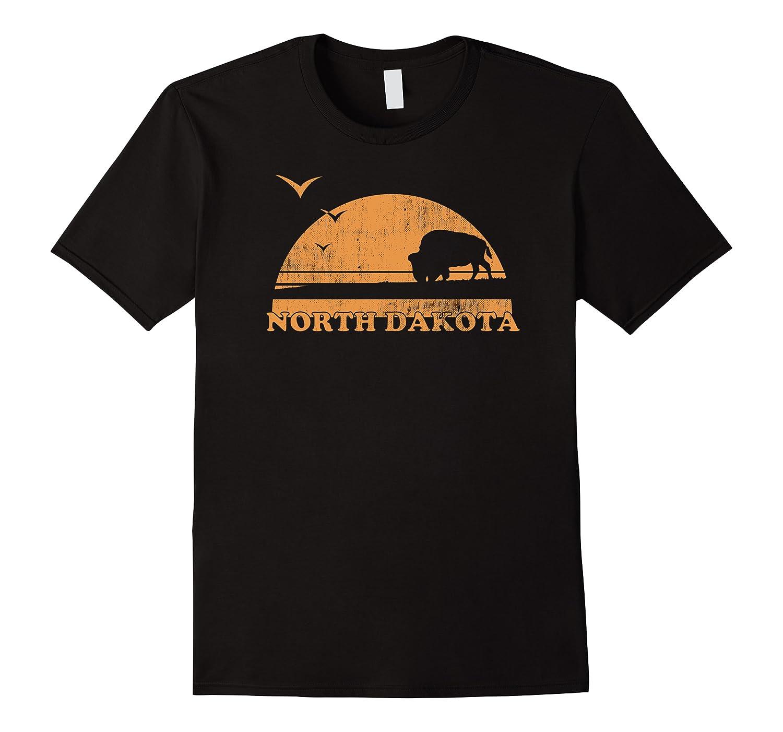 Vintage North Dakota 70s 80s Sunrise T Shirt Nd Distressed