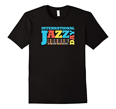 Colorful International Jazz Day Featuring Piano Keys T-shirt