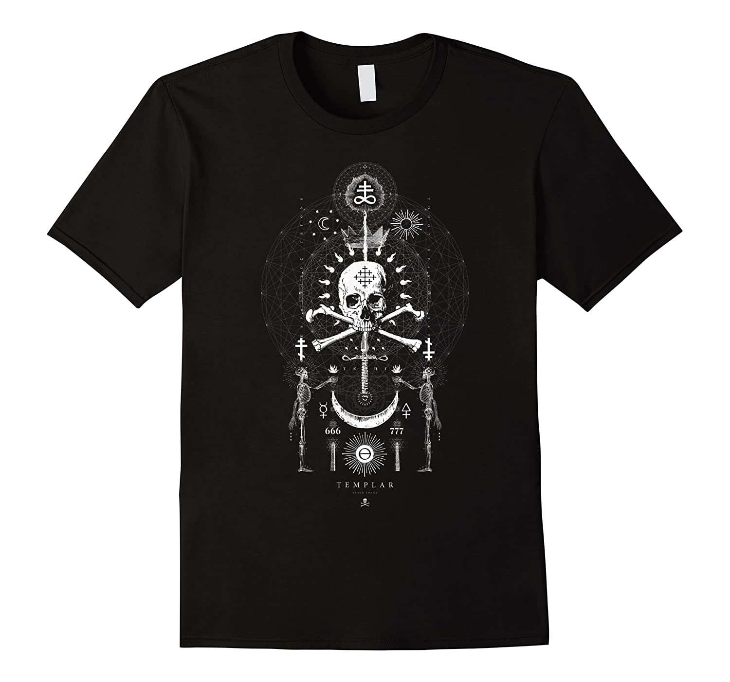 Skull And Sword Occult Sacred Geometry Shirts