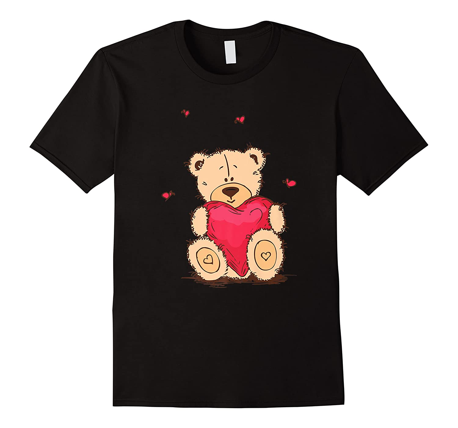 Adorable Teddy Bear Give You Love   Valentine Day T-shirts.