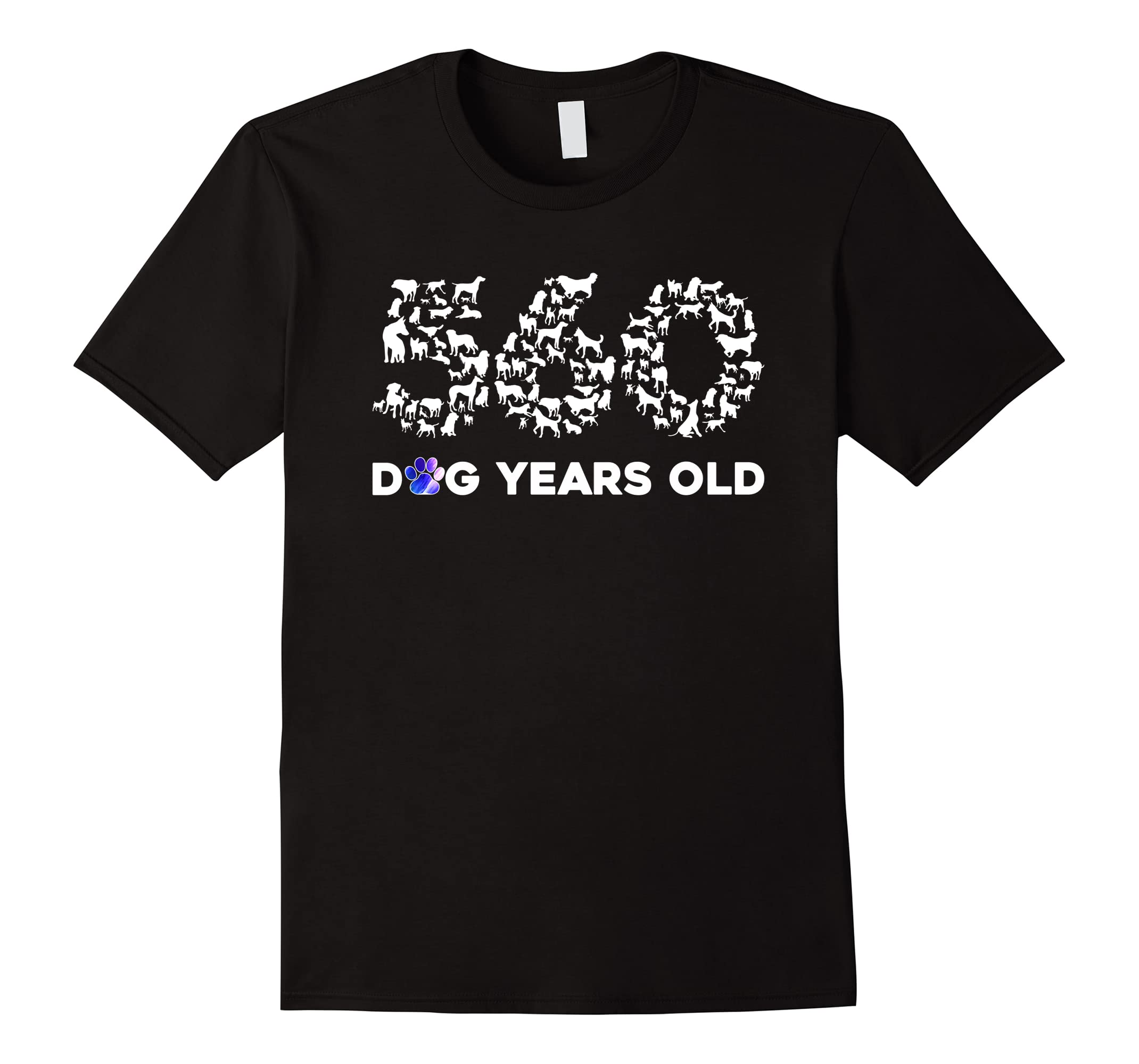 80th Birthday T Shirt Funny 560 Dog Years Old Gift Tees RT