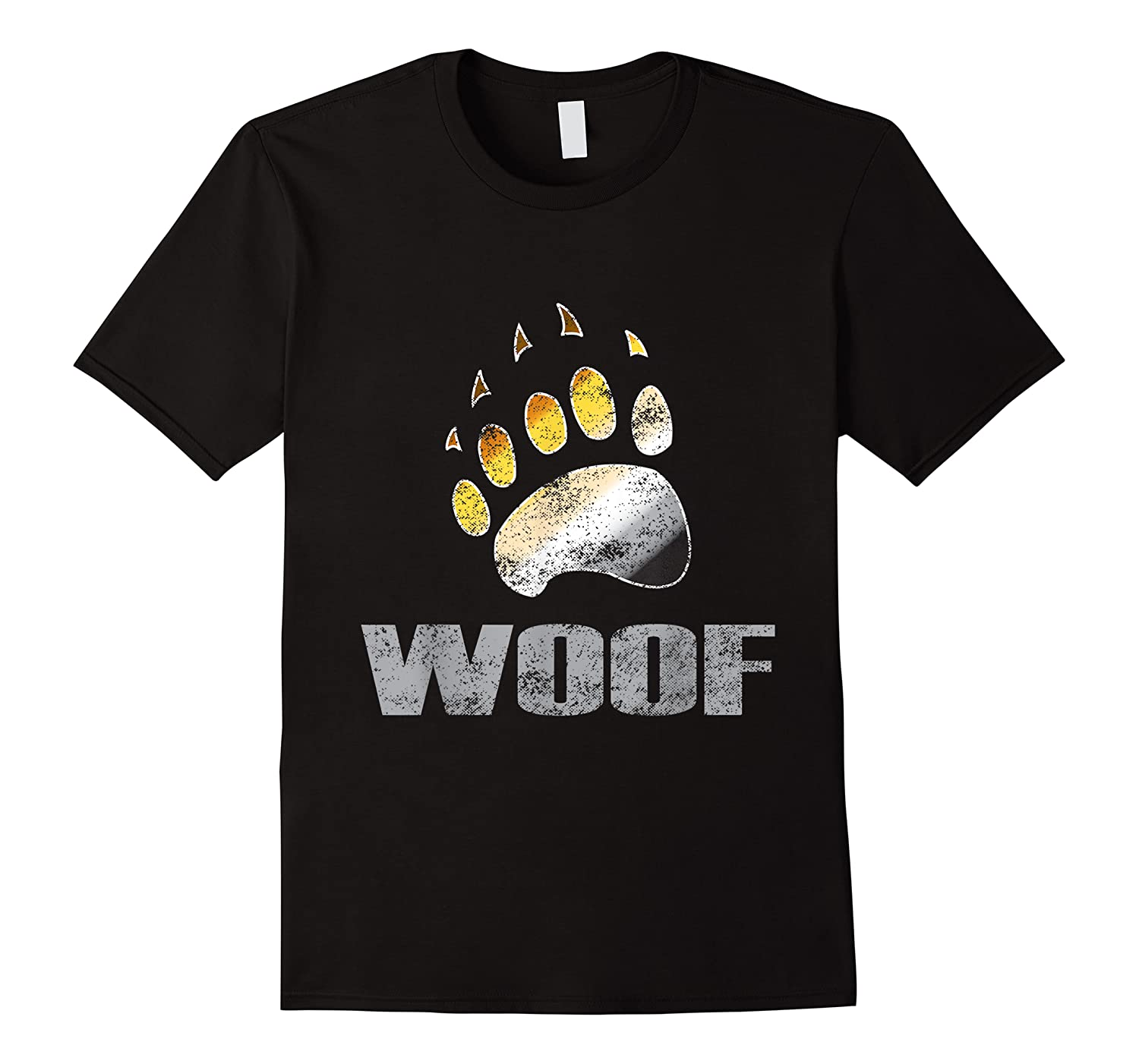 Bear Pride Woof Bear Claw Symbol Distressed For Shirts