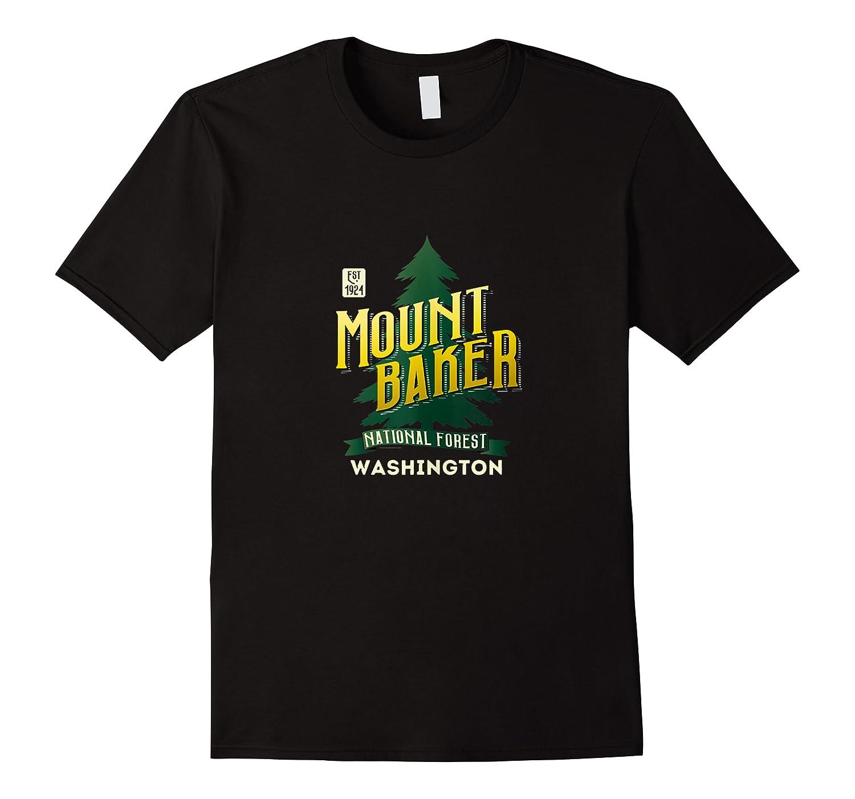 Mount Baker National Forest Retro Logo Washington Tank Top Shirts