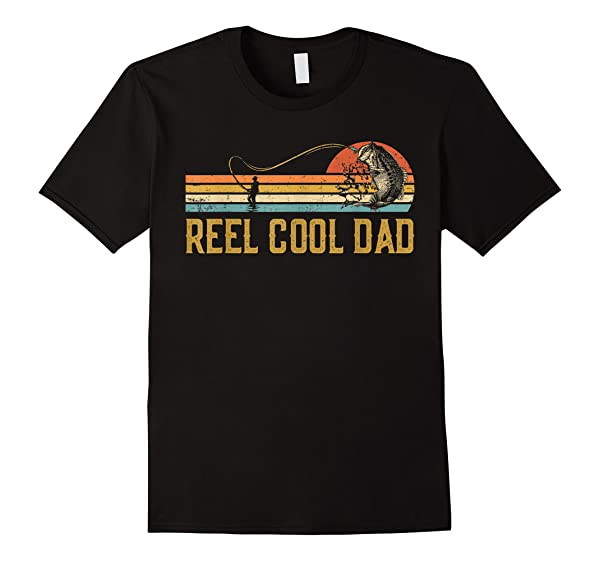 Reel Cool Dad Vintage Fisherman Papa Father S Day Gift T Shirt