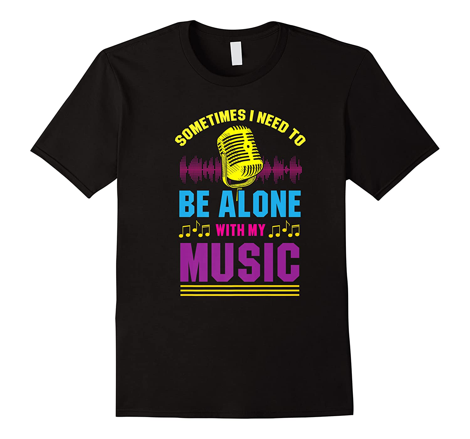 Be Alone With My Music Funny Musical Lover Listen Tunes Premium T-shirt