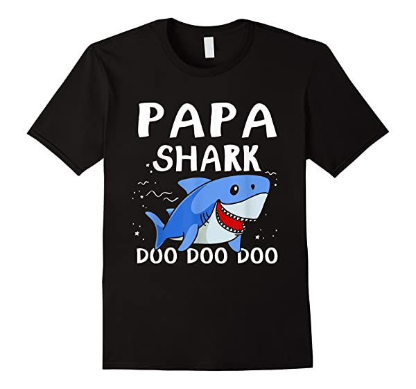 Cute Papa Shark Gifts T Shirt For Dad Daddy
