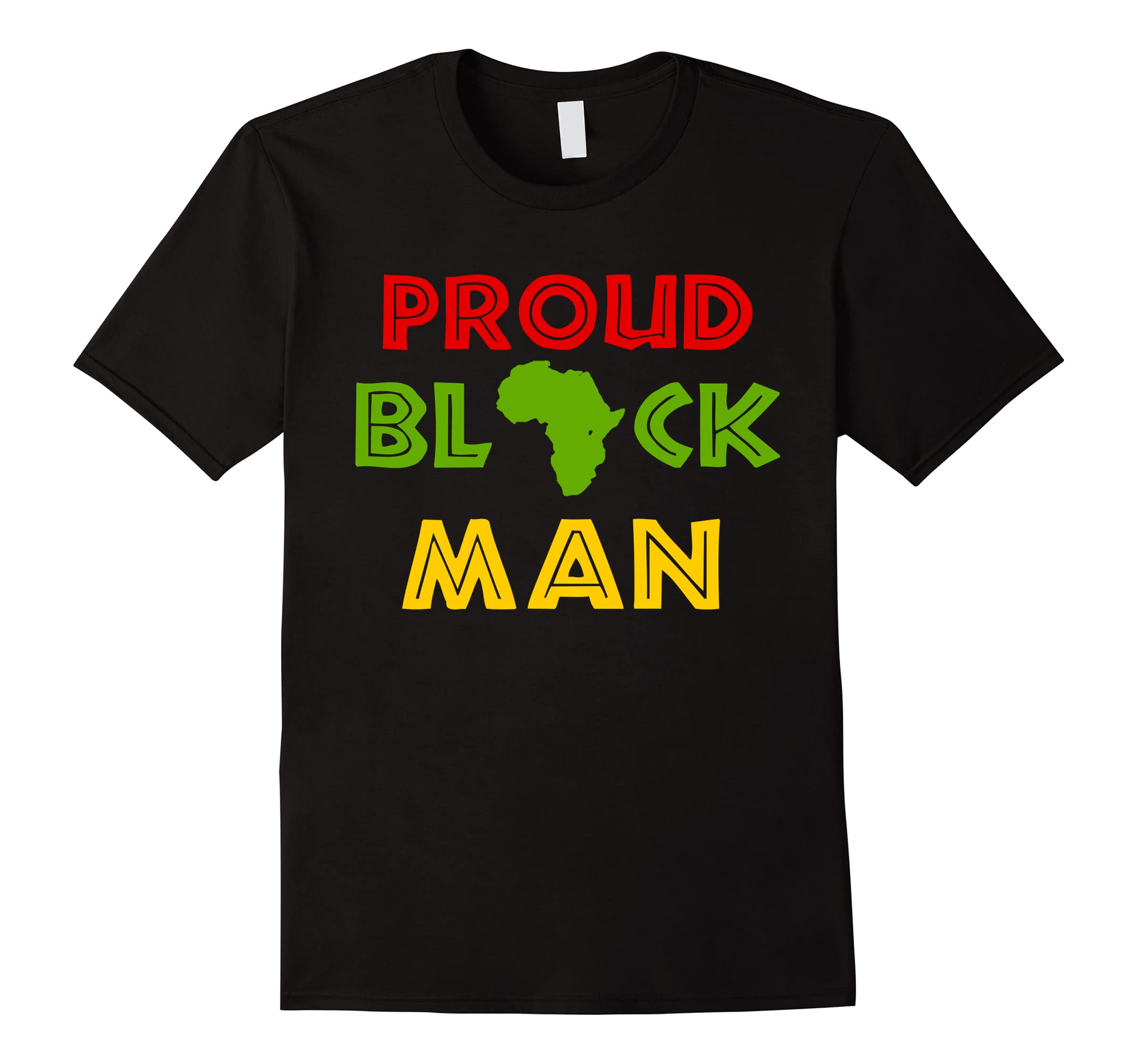 Proud Black Man Tshirt for Black History Month-RT