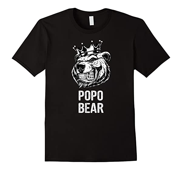 Funny Father S Day Gifts Grandpa Papa Popo Bear T Shirt