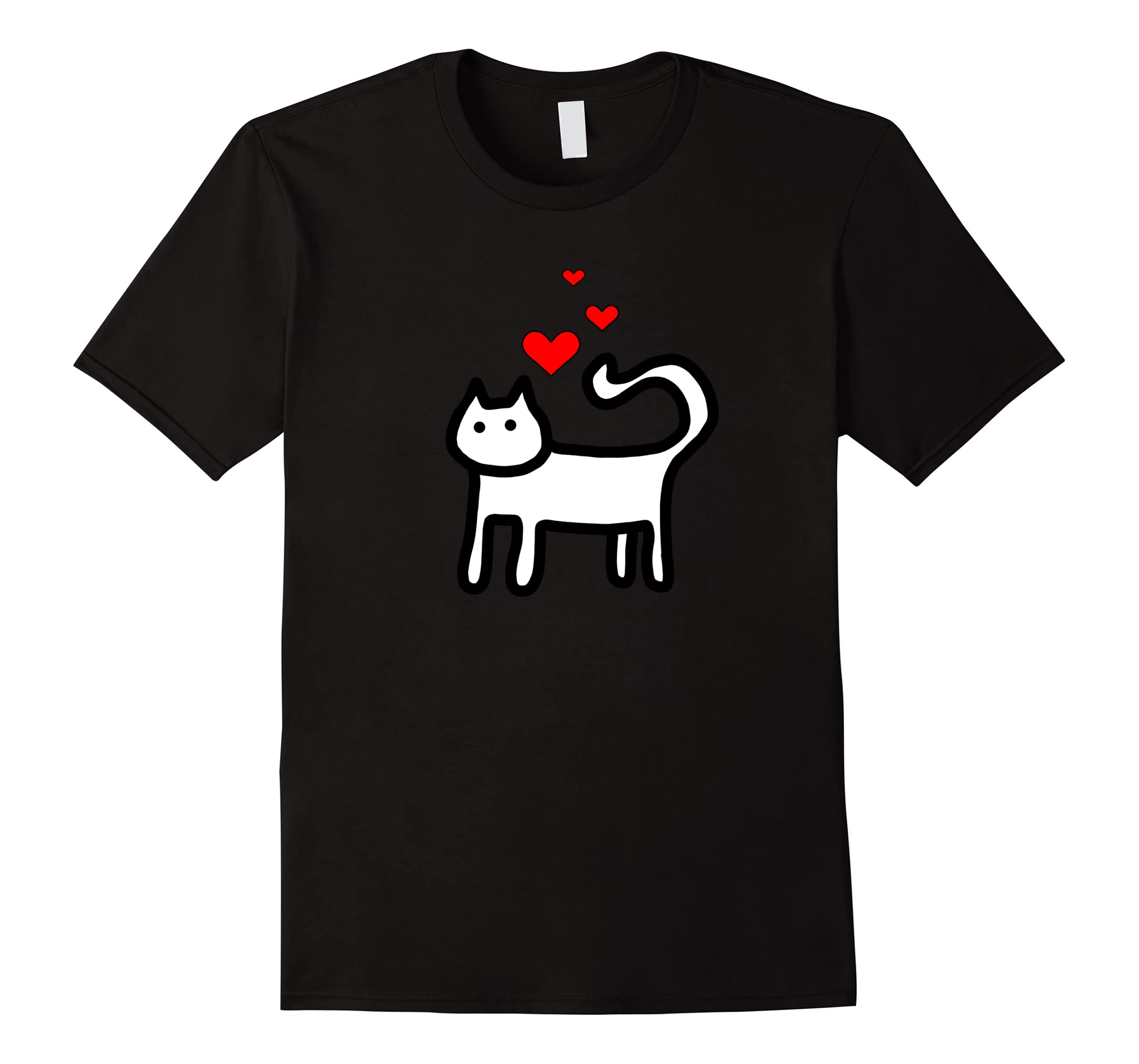 Valentines Day Cat Shirt With Hearts For Girls Kids Family Ah My