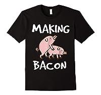 Pigs Making Bacon | Funny Pork Breakfast Shirt | Black