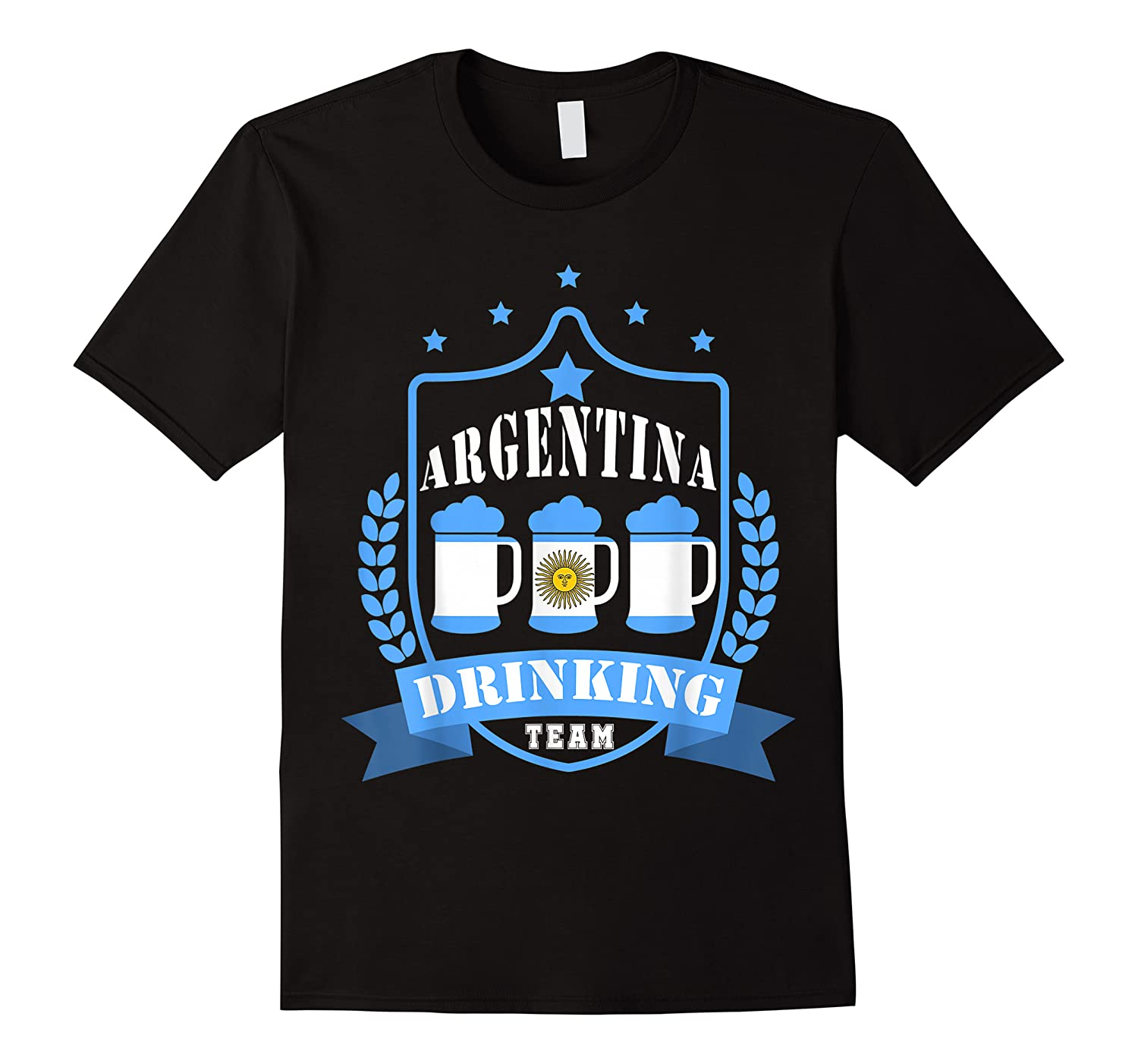 Beer Argentina Drinking Team Casual Argentina Flag T-shirt