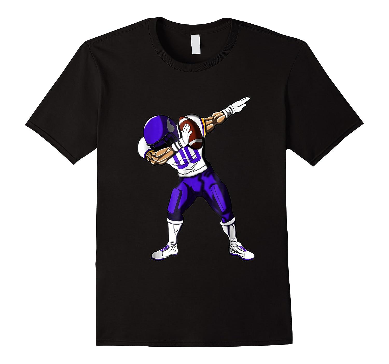 Football Dabbing T Shirt Funny Purple