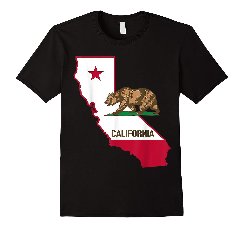 California Bear And Map Cool Gift Shirts