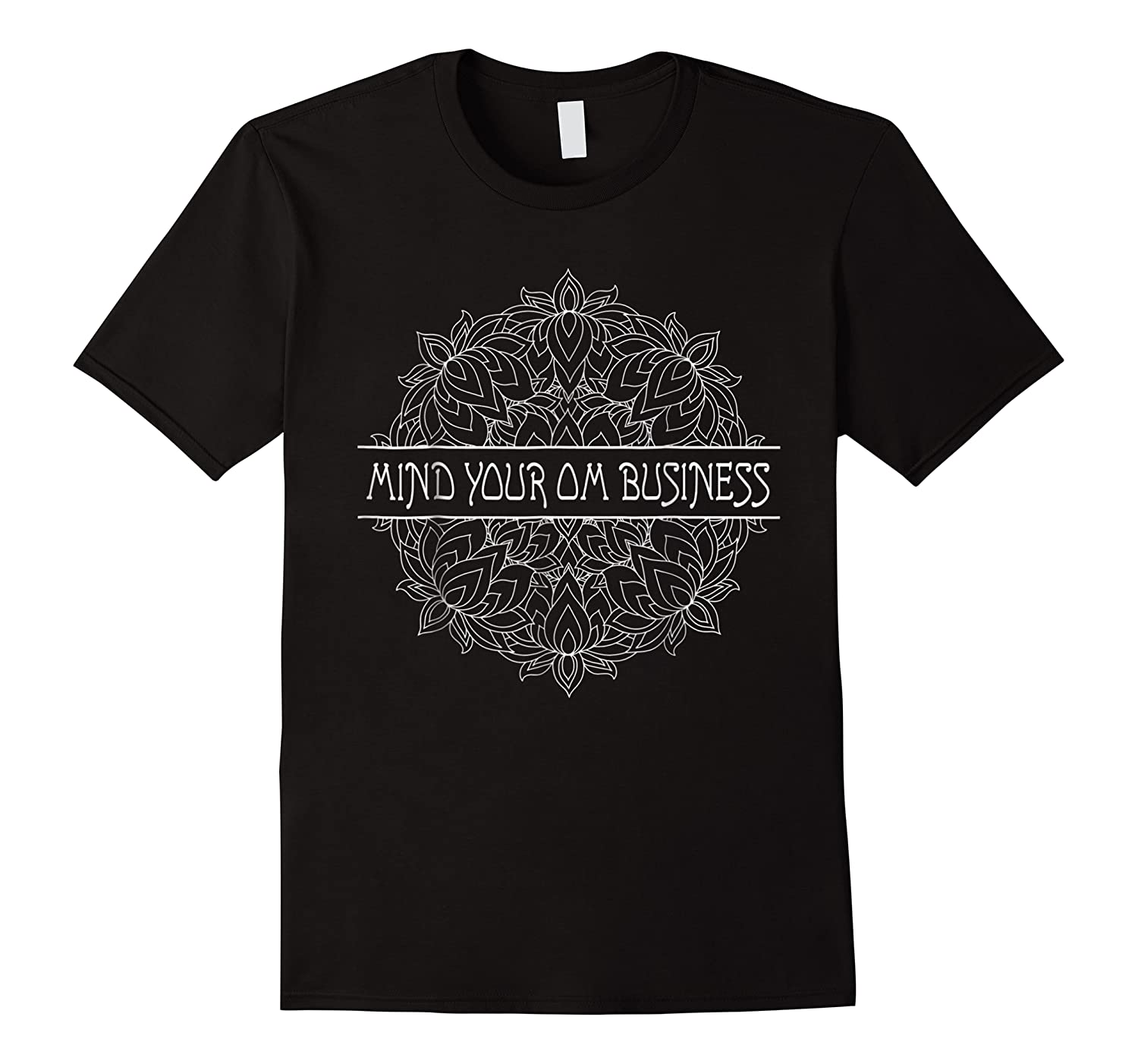 Mind Your Om Business Geometric Graphic Shirts