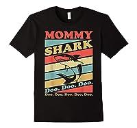 Retro Vintage Mommy Shark Grandma Mather's Day Gifts Shirts Black