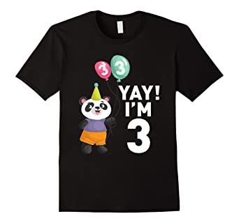 Image Unavailable Not Available For Color Cute Panda 3rd Birthday Shirt Happy