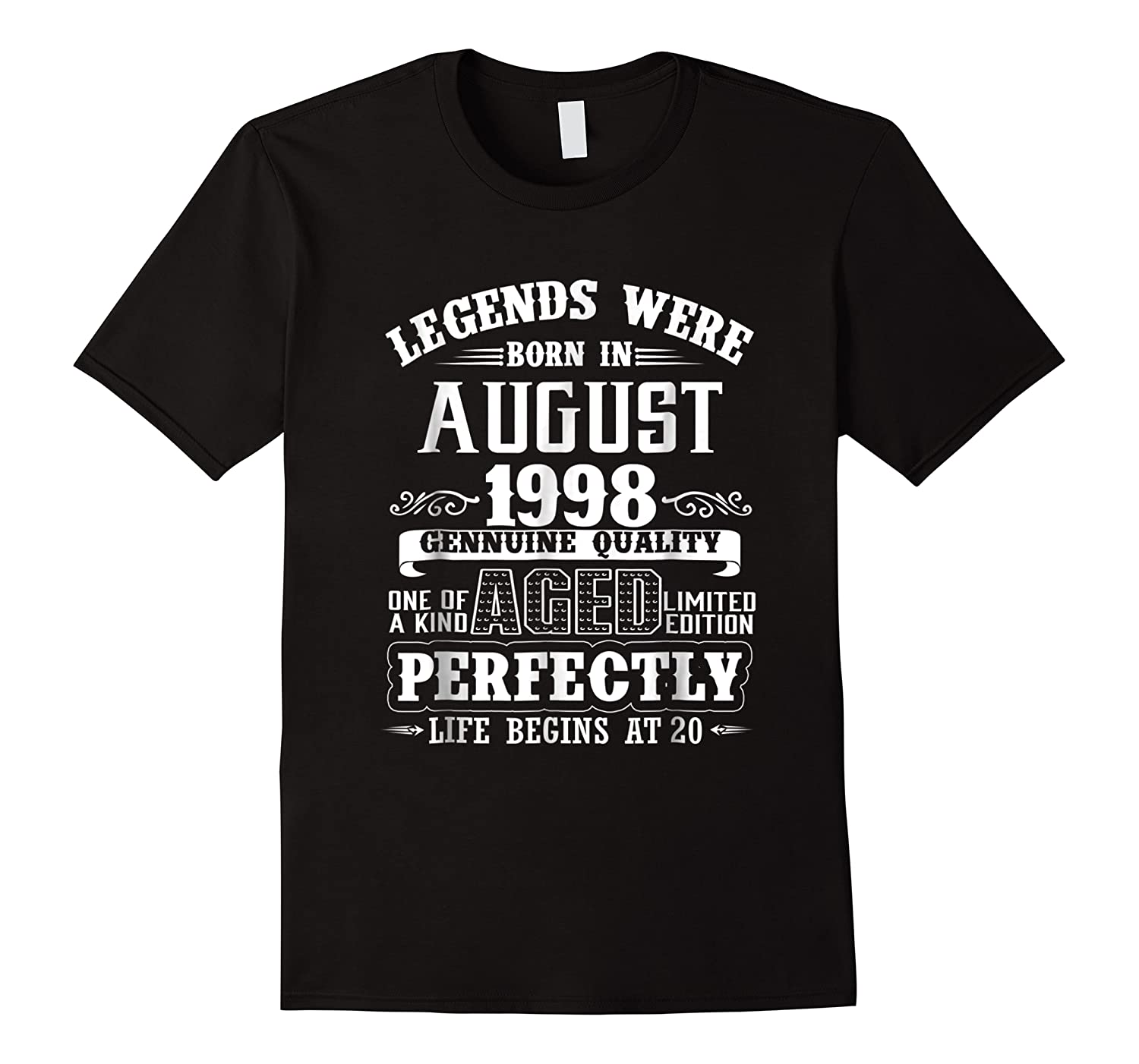 August 1998 20th Birthday Gift Shirt 20 Years Old
