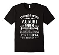 August 1998 20th Birthday Gift Shirt 20 Years Old Black
