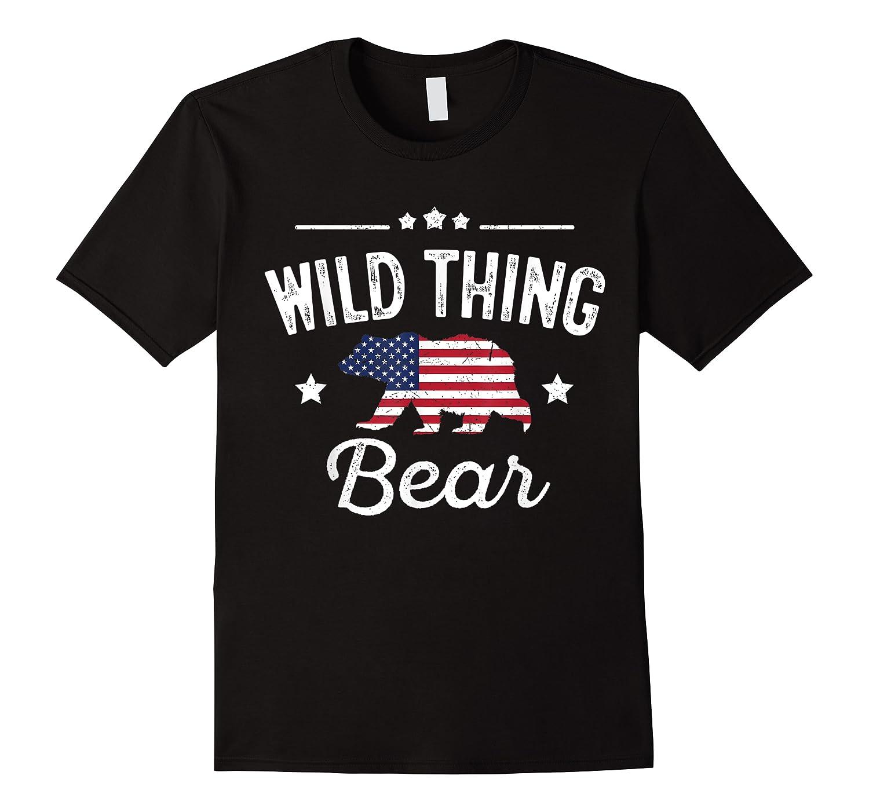 Wild Thing Patriotic Bear Flag Matching 4th Of July Shirts