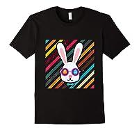 Funny Techno Rabbit Easter Edition Shirt Easter Celebration Black