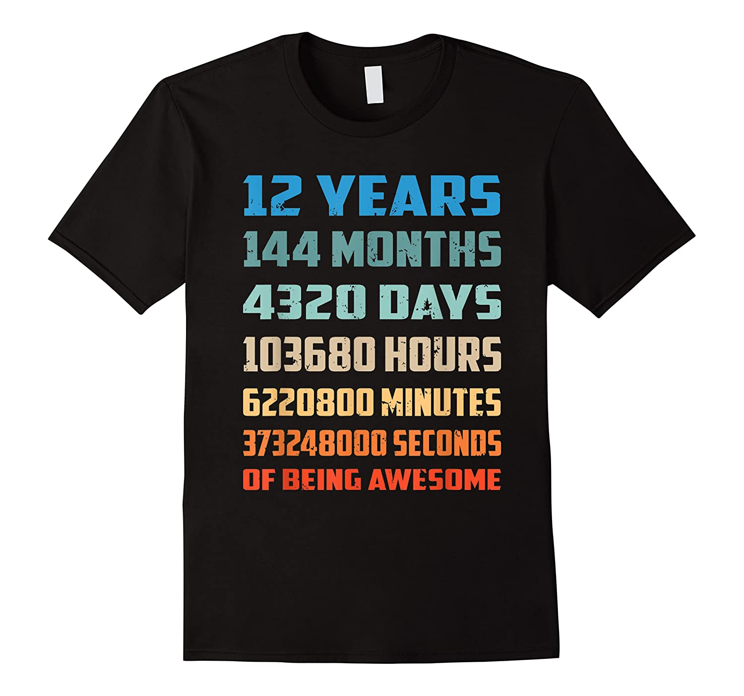12th Birthday Gift 12 Years Old Being Awesome Shirts
