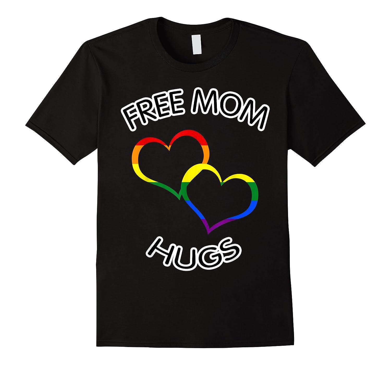 Free Mom Hugs Rainbow Heart Lgbt Pride Month Shirts