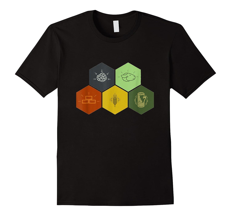 Brick, Wood, Rock, Wheat, Sheep Board Game Geek Shirts