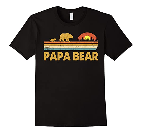 Vintage Papa Bear Daddy Wildling Father S Day Dad Gift T Shirt
