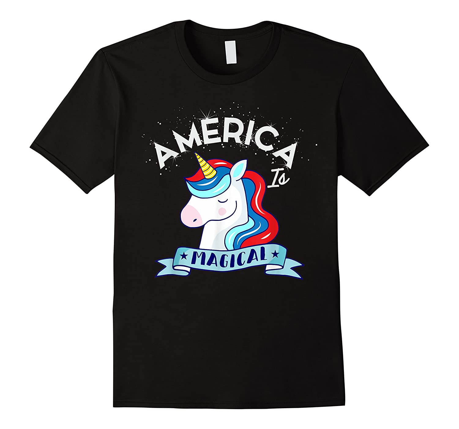 Patriotic Unicorn America Magical Mythical July 4th Shirts