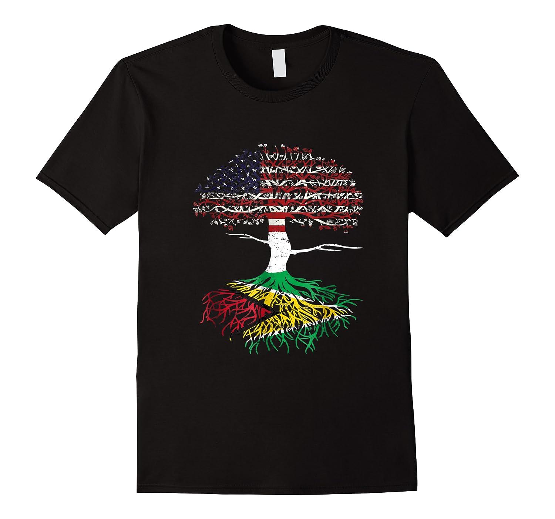 American Heart Guyanese Roots Patriot Usa Guyana Flag Shirts