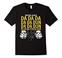 S Darth Vader Imperial March Graphic Shirts Black